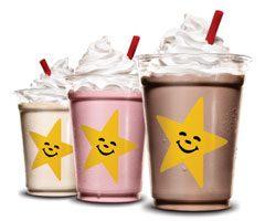 ホイップドアイスクリームシェイク<br>(ストロベリー、バニラ、チョコレート)